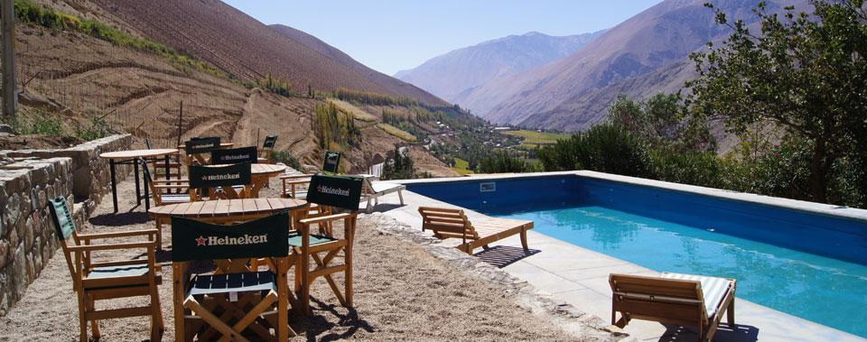Piscina con maravillosa vista al Valle de Elqui